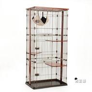 貓龍籠子三層貓咪房子豪華特大號貓舍家用貓別墅通用圍欄實木貓櫃XW