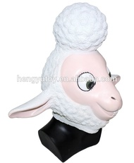 Deluxe Latexสัตว์หัวBellwether Sweet Sheep Mask