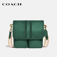 COACH Map Bag With Varsity Stripe CO3681 OLQVC กระเป๋าสะพายข้าง