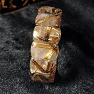 黃金鈦晶(咖啡鈦晶)系列~鈦晶太陽花手排~21mm