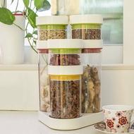 廚房塑料抽真空防潮咖啡豆密封罐茶葉罐子五谷雜糧干貨儲物收納盒