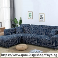L shaped Sofa Cover Elastic Blue Sofa covers for living room Copridivano Couch cover Sofa slipcovers