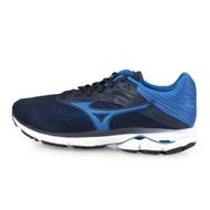 MIZUNO 男 慢跑鞋-WIDE WAVE RIDER 23 SW 丈青藍
