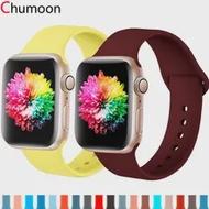 สำหรับ Apple Watch 6 Band 40มม.44มม.38มม.42มม.ซิลิโคนสปอร์ตเข็มขัดสร้อยข้อมือ Smartwatch iwatch Series 1 2 3 4 5 SE 6