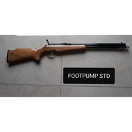 Airgun foot pump bolt action .22 with free pellet brass 30 inches barrel