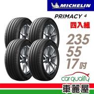 【Michelin 米其林】PRIMACY 4 PRI4 高性能輪胎_四入組_235/55/17(車麗屋)