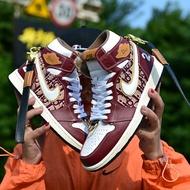 ❡◆⊕[Original]Spot Dior X Air Jordan 1 High Og Aj1 Men and Women Couple Casual Sports Fashion Sneakers