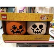 Costco  LEGO 萬聖節大頭收納盒 (骷髏💀+南瓜🎃)