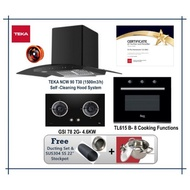 Teka NCW 90 T30  Hood (1500m3/h) +  Hob GSI78 2G AI AL TR  + Built In Oven TL 615B (8 cooking Functions) with Free Gift