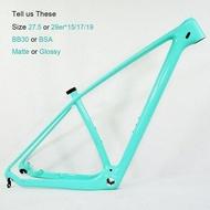 2020 T1000 Carbon MTB Frame 29er/27er MTB Carbon Frame 650B 27/29 Carbon Mountain Bike Pink Carbon Frame