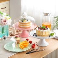 PASTEL EMBOSSED CAKE STAND WITH CLOCHE