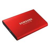 Samsung三星 T5 500G 外接式固態硬碟  金屬紅