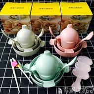 兒童餐具 小麥纖維兒童餐具餐盤耐摔便攜寶寶碗勺套裝微波嬰兒幼兒園輔食碗JD 寶貝計畫