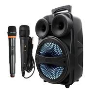 雷霆王戶外藍牙手提音響 無線+有線麥克風組合 廣場舞 戶外卡拉OK USB/TF播放
