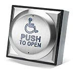 "4"" Exit Button with Wheelchair and Push"