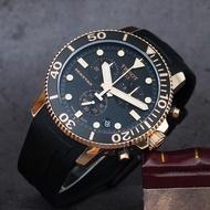 【TISSOT 天梭】水鬼 Seastar 1000 海洋之星300米計時手錶-黑x玫塊金框(T1204173705100)