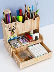 創意筆筒收納盒時尚桌面擺件學習博主北歐筆架辦公筆桶可愛女ins