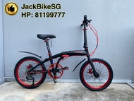 Cruzer Black Gold and Black Red - Foldable Bike, Foldie, Folding Bike, Shimano Altus 9 Speed Group Set, Litepro Parts, Litepro Hollowtech, Zoom Hydraulic Disc Brake, Not Crius, Dahon, Light Weight with Premium Parts