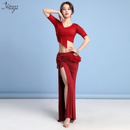 Belly Dance Women's Exercise Clothing Skirt Modal New Oriental Dance Costume Practice Dance Sexy Huayu Bandage Adult
