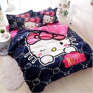 9款卡通法蘭絨床包4件組加厚秋冬(被套+床包+枕套)保證品質材質柔軟舒服史迪奇Kitty維尼小豬佩奇
