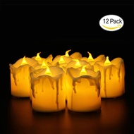 JIALIPIGES LED Lights Candles, Flameless Candles LED Candles, Flickering Tealight Candles, Warm White, Pack Of 12 - intl