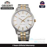 [Official Warranty] Orient FUNG8002W Men's Analog Quartz White dial Stainless Steel Strap Watch