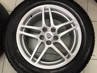 輪胎含鋁圈 原廠 Porsche Macan S 18吋鋁圈 5孔112 前後配 8J 21 9J 21 米其林輪胎