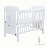 【L.A. Baby】Austin奧斯汀嬰兒床/中床/童床/白色(白色)