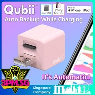 Qubii USB Flash Drive Auto Backup Apple iPhone Xs XR iPad iOS 64GB 128GB 256GB 400GB Lightning OTG Drive Maktar Apple Memory Card Reader Automatically Backup While Charging microSD Card Reader for Mac and PCs Singapore Official Warranty 3PM.SG