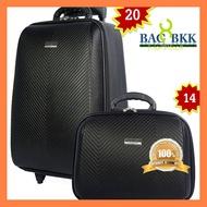 ของมันต้องมี BAG BKK Luggage WHEAL กระเป๋าเดินทางล้อลาก ระบบรหัสล๊อค เซ็ทคู่ ขนาด 20 นิ้ว/14 นิ้ว Luxury Classic F7807-20 ไม่มีไม่ได้แล้ว