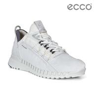 【ecco】ZIPFLEX W 酷飛運動戶外休閒鞋 DYNEEMA皮革款 女鞋(白色 80370301007)