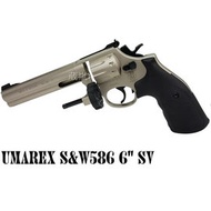 < WLder > UMAREX 6吋 586 Revolver 4.5mm 左輪 CO2槍 銀 (BB槍模型槍左輪槍轉輪直壓槍道具槍牛仔