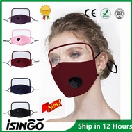 iSingo [Ready Stock] Adults Washable Reusable Face Shield With Filter Breather Valve And Eye Shield