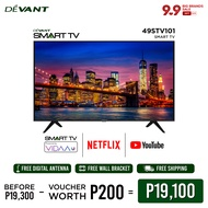 DEVANT 49-inch 49STV101 Full HD Smart TV with FREE Digital Antenna - Pre-loaded with Netflix, YouTube and Anyview Cast App