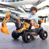 遙控玩具 兒童挖掘機玩具車超大號挖土機可坐人大型電動充電遙控工程車鉤機 秋冬特惠上新~