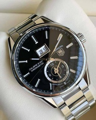 ( USED ) Tag Heuer มือสอง รุ่น Carrera GMT Grande Date Black Dial Cal.8 ( Ref. WAR 5010 )