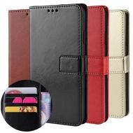 เคส Sony Xperia 1 Case 10 Plus 5 8 L3 เคสฝาพับ  XA2 Ultra XZ2 Premium Compact XZ3 Flip Cover Wallet Crazy Card Slots