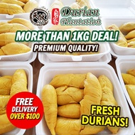 SALE 🔥超值 $$ 1KG Fresh Durian Deal / MSW / Black Gold / TSW / Red Prawn / Qoo10 Coupon Applicable