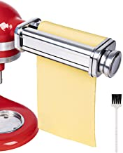 X Home Universal Pasta Roller Attachment Compatible with Kitchenaid Stand Mixer, Stainless Steel Dough Roller Accessory, Pasta Maker Including Cleaning Brush