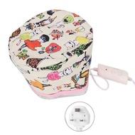 เครื่องอบไอน้ำผมหมวกเครื่องอบผ้าไฟฟ้าผมหมวกทำความร้อนความร้อนหมวกรักษาBeauty SPA Nourishing Hair Styling Careสหรัฐฯยุโรปสหราชอาณาจักรปลั๊ก