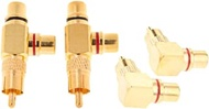 Almencla 4x Gold Plated AV Audio Splitter Plug RCA Adapter 1 Male To 2 Female