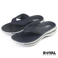 《滿1500現折150》Skechers Arch Fit 深藍色 皮質 涼拖鞋 男款 NO.B2111【新竹皇家 229022NVY】
