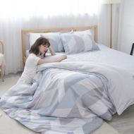 BUHO 100%TENCEL純天絲單人床包+雙人舖棉兩用被床包組(日光私居)