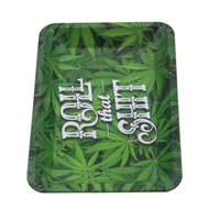 Roll That Shit Tinplate Metal Rolling Tray HD Pattern Printed Tobacco Cigarette Holder Smoking Accessories