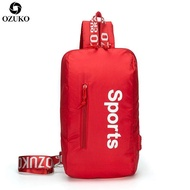 Ozuko แฟชั่นกระเป๋าหน้าอกมัลติฟังก์ชั่ผู้ชายเดินทาง C rossbody กระเป๋า USB ชาร์จสลิงกระเป๋าสะพายกระเป๋า Messenger สำหรับผู้หญิง