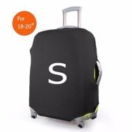 ถุงผ้าคลุมกระเป๋าเดินทาง แบบผ้ายืด (Lycra spandex travel suitcase spandex luggage cover) ไซร์ S ขนาดกระเป๋า 18-20 นิ้ว - สีดำ
