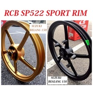 "RCB Suzuki Belang Sport Rim SP522 1.6/1.85 x 17"" RCB Racing Boy ( Suzuki Belang 150, Raider 150, Satria 150 )"