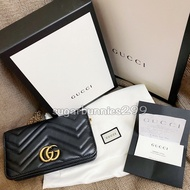 Gucci Marmont Supermini 磁扣翻蓋鍊包 二手正品
