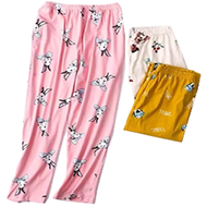 NEW ARRIVAL COD Pajama Cartoon Print Sleepwear for ladies Cotton Pajama For Women Sleepwear adult girls(size: 25-30)RANDOM COLOR