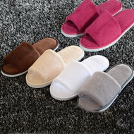 Non-disposable Home Guest Slipper Warm Fluffy Shoes Hotel Coral Velvet Slippers
